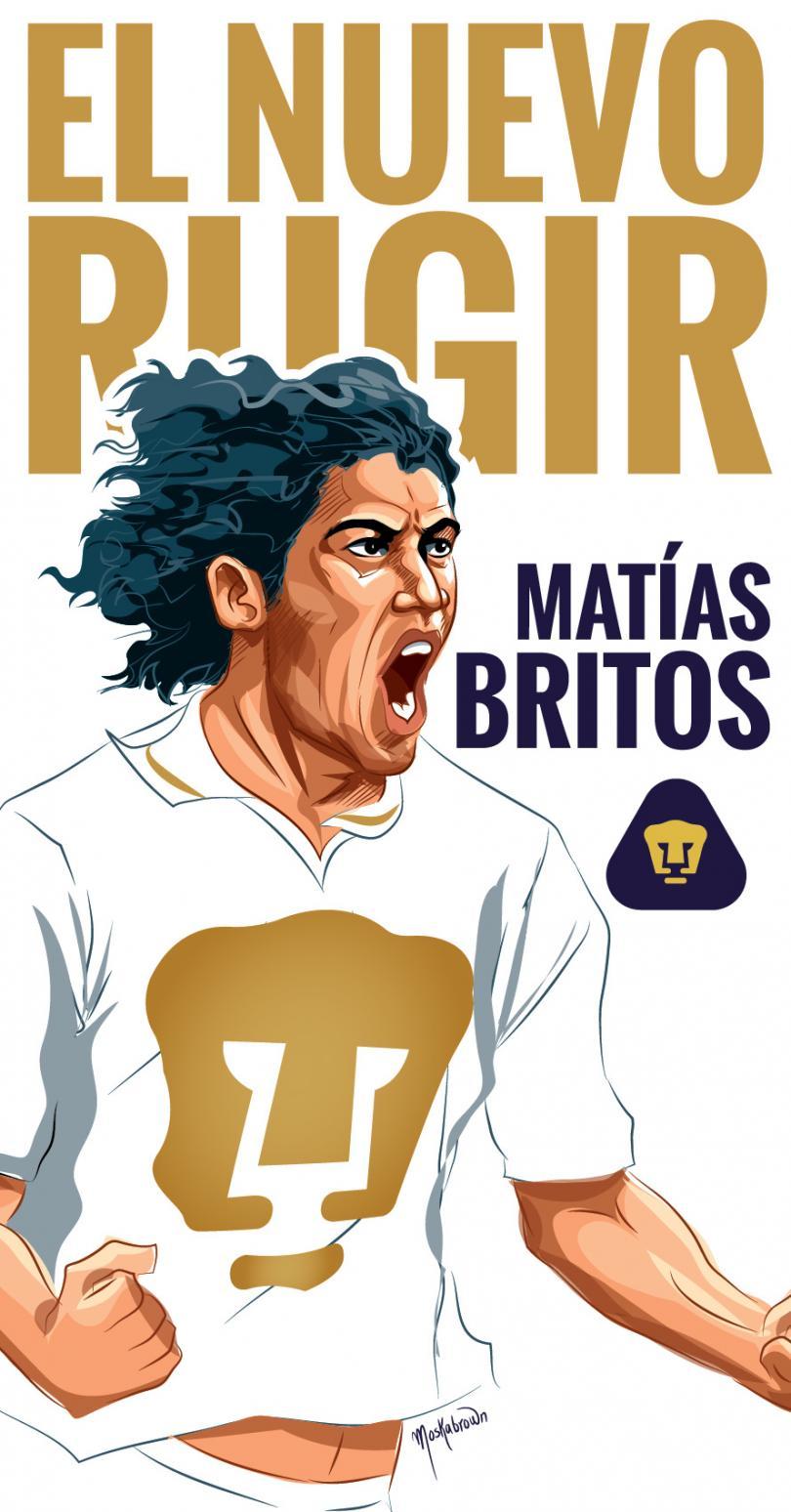Matías Britos, nuevo delantero de los Pumas de la UNAM