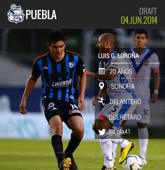 Luis Loroña llega a Puebla