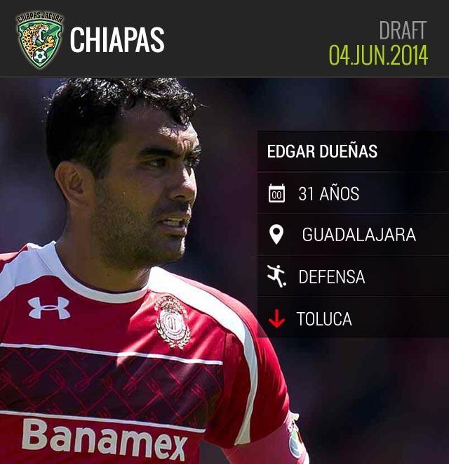 Edgar Dueñas llega a Chiapas