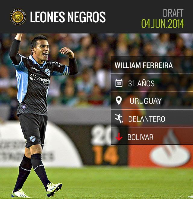 Ferreira llega a Leones Negros