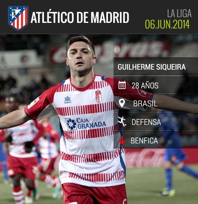 Siqueira firmó por cuatro temporadas con el Atlético.