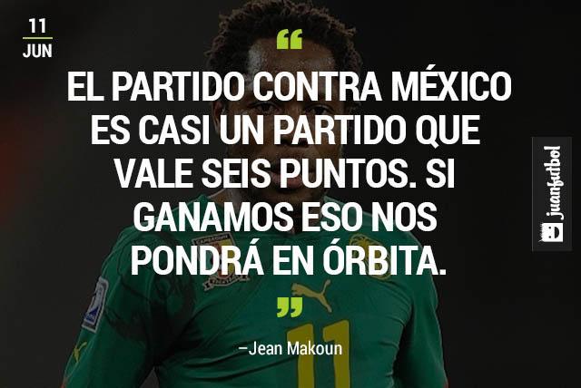 Makoun habla sobre el partido contra México.