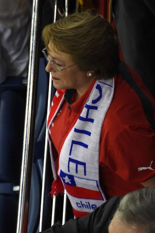 Michelle Bachelet apoyando a Chile en Cuiabá