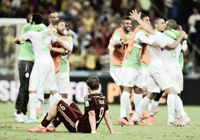 Celebración de los argelinos