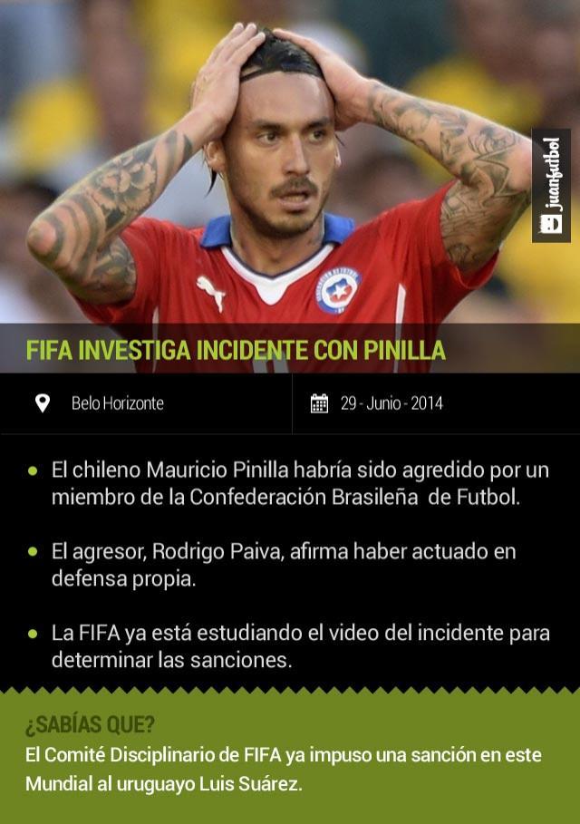 Incidente entre Pinilla y un miembro de la CBF