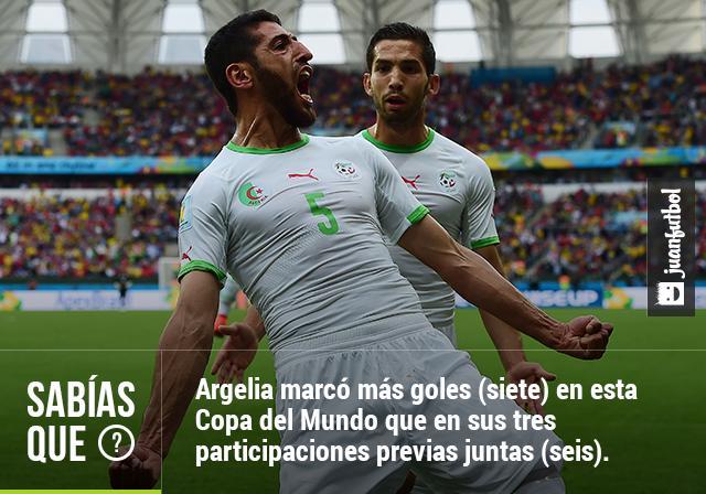Argelia marcó más goles en este Mundial que en sus tres participaciones previas