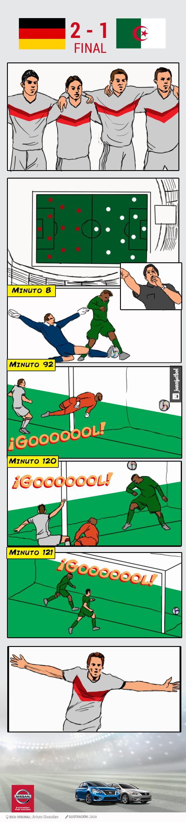 El comic del Alemania-Argelia