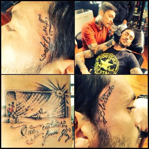 Tatuaje de Mauricio Pinilla