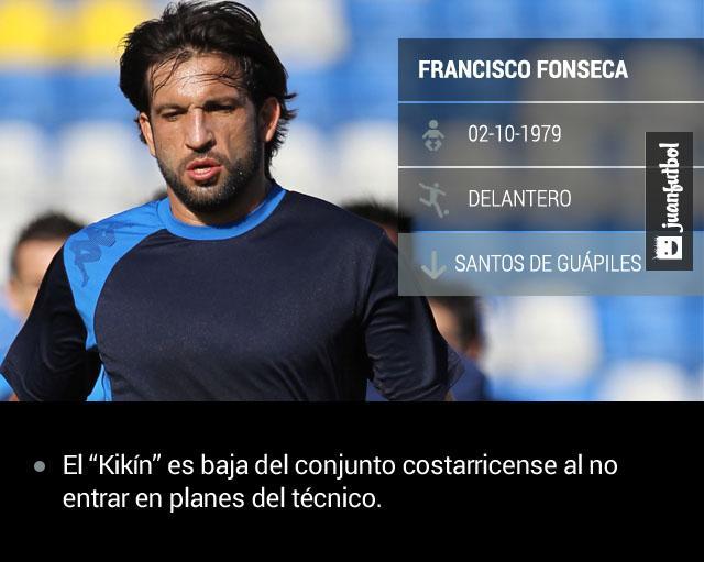 Kikín Fonseca es baja del conjunto costarricense.