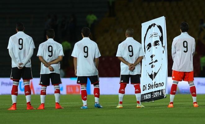 River y Millonarios rindieron homenaje a Di Stéfano