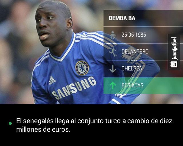 Demba Ba llega al Besiktas a cambio de diez millones de euros.