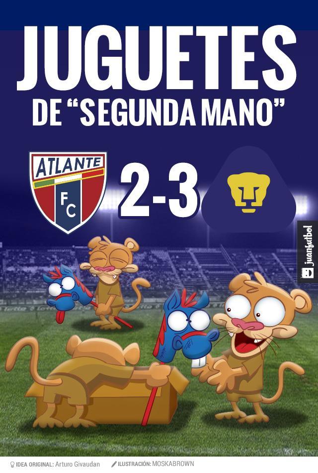 Crónica del Atlante Pumas en la Copa MX