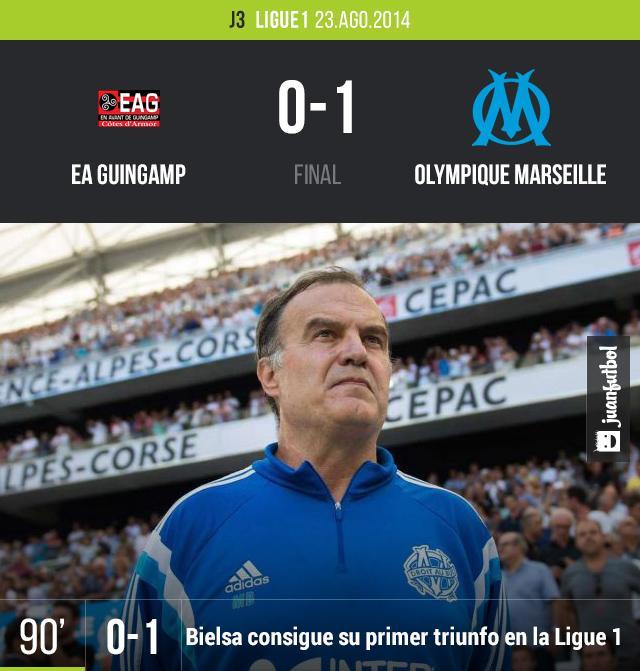 OM ganó por primera vez en la nueva campaña de Ligue 1