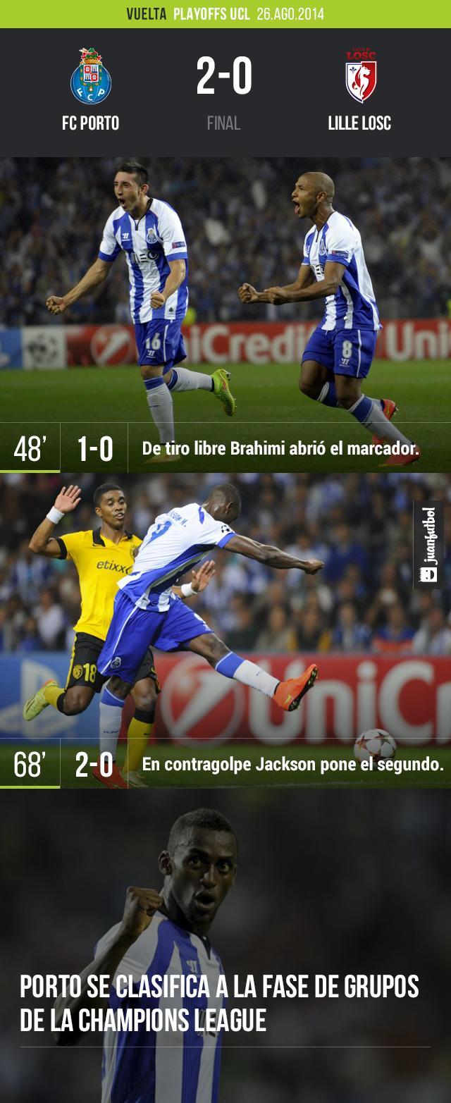 Con tranquilidad Porto avanzó en la Champions