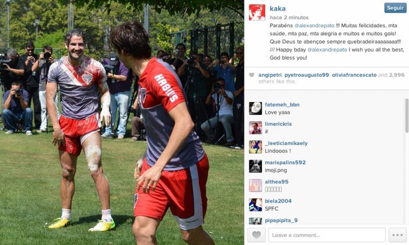 Los jugadores se divirtieron en el entrenamiento del Sao Paulo