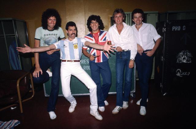 Freddie con Maradona