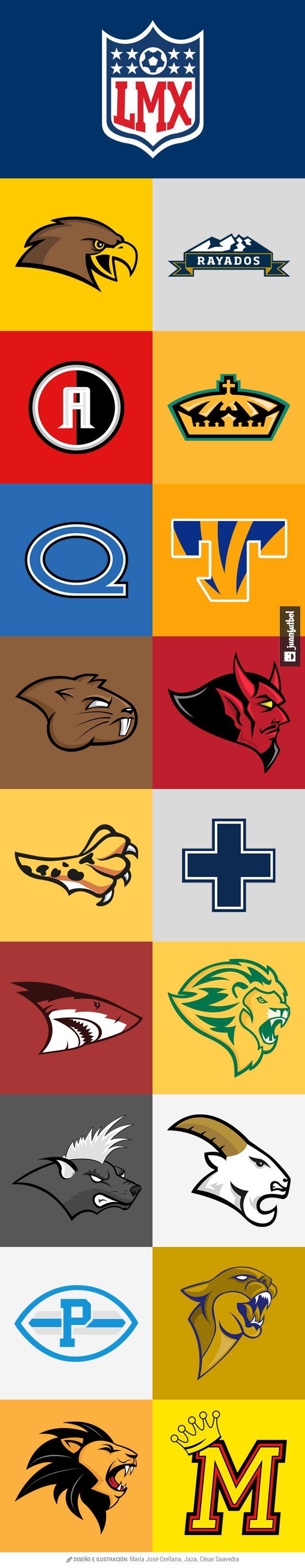 Logos de la Liga MX al estilo NFL