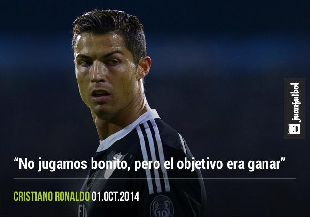 Cristiano Ronaldo resaltó que el objetivo principal del encuentro era la victoria, no la forma de juego.