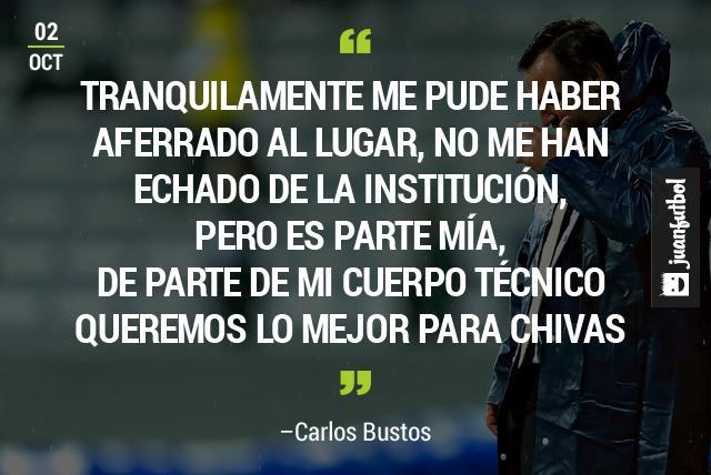 Carlos Bustos renuncia a Chivas tras ser derrotados por Toluca 3-1 en la Bombonera, durante la Jornada 11 de la Liga Mx.