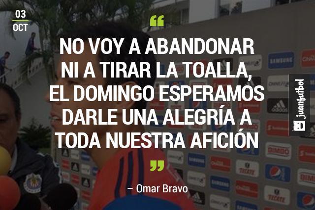 Omar Bravo no piensa marcharse de las Chivas sino en ayudar a la salir de la Crisis