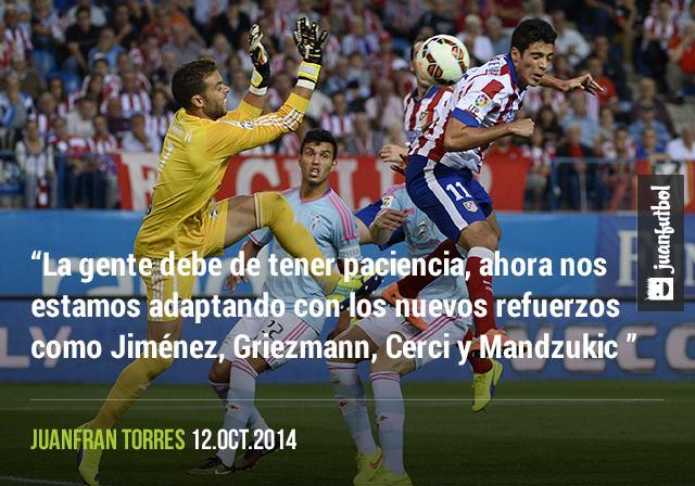 Juanfran pide paciencia para Raúl Jiménez y los demás jugadores