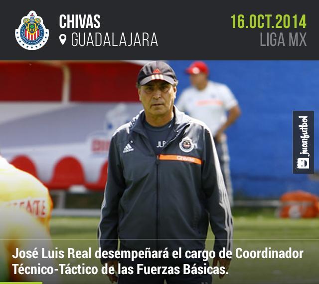 José Luis Real regresa a Chivas como Técnico-Táctico de las Fuerzas Básicas.