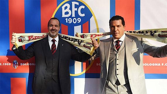 Joey Saputo junto a Joe Tacopina, los nuevos dueños del Bologna