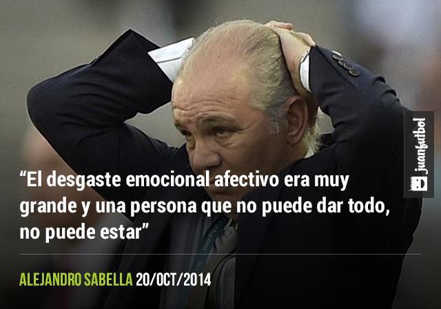 Alejandro Sabella explica lo que vivía al mando de la Selección.