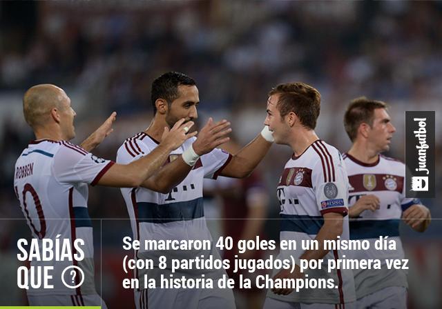 Bayern Munich celebrando el gol de Mario Gotze