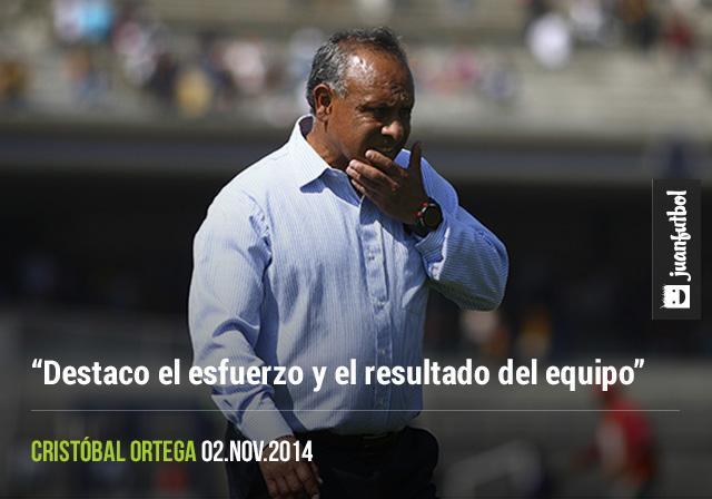"""Cristóbal Ortega, """"Destaco el esfuerzo y el resultado del equipo"""""""
