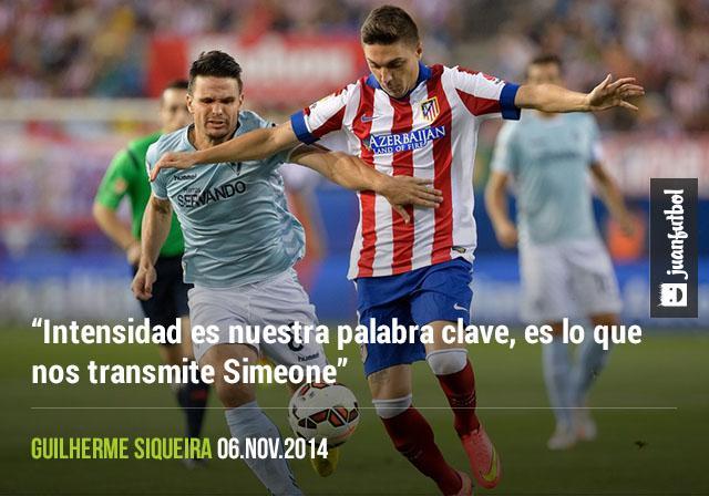 """""""Intensidad es nuestra palabra clave, es lo que nos transmite Simeone"""", Guilherme Siqueira"""