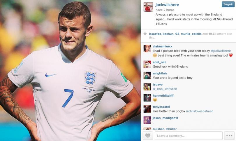 Siempre contento Jack Wilshire por jugar para su Selección