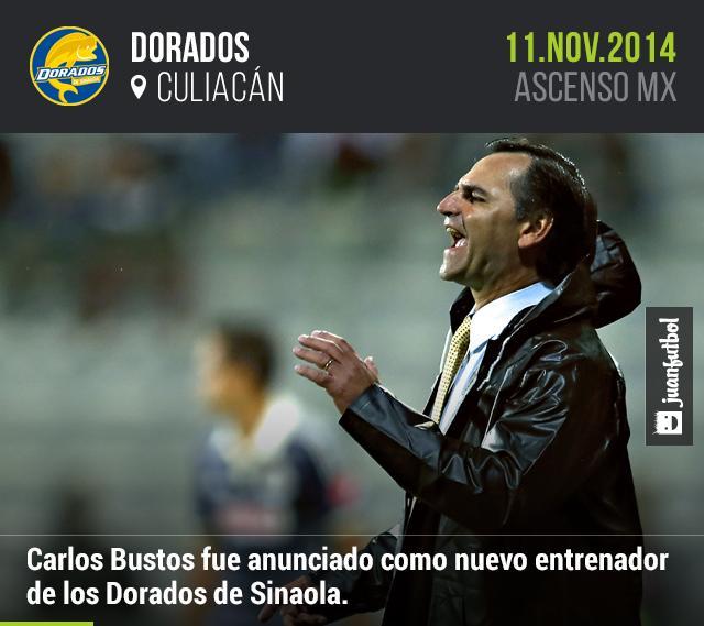 Carlos Bustos se hará cargo de Dorados