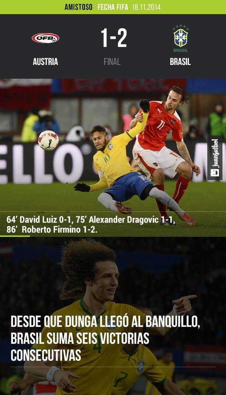 Brasil se lleva la victoria frente a Austria.
