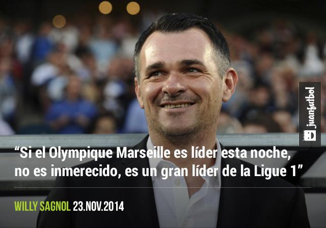 Para Willy Sagnol el Olympique Marseille es un digno líder de la Ligue 1