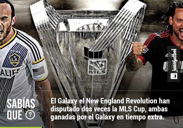 El LA Galaxy ha vencido al New England Revolution en dos ocasiones en la MLS Cup