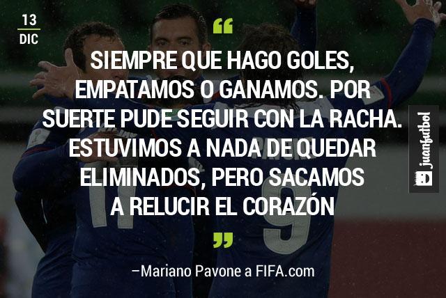 Mariano Pavone reconoció que el equipo  estuvo a nada de quedar eliminado, pero sacaron a relucir el corazón.