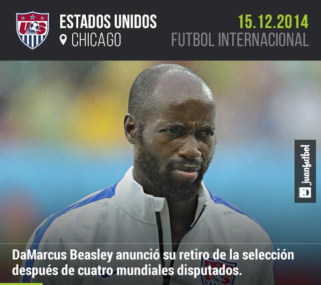 DaMarcus Beasley anunció su retiro de la selección después de cuatro mundiales