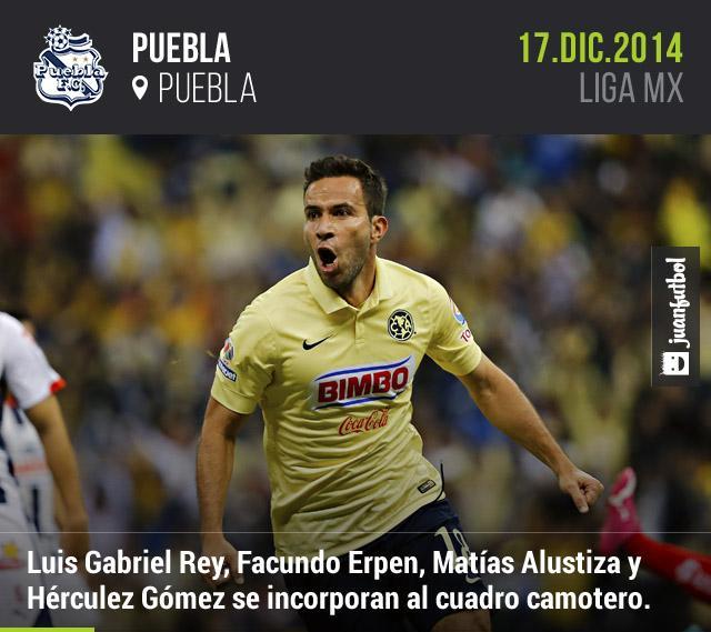 Puebla quiere goles para el Clausura 2015, y por ese motivo incorporó a Luis Gabriel Rey y Hérculez Gómez, además de 'repatriar' a Matías Alustiza