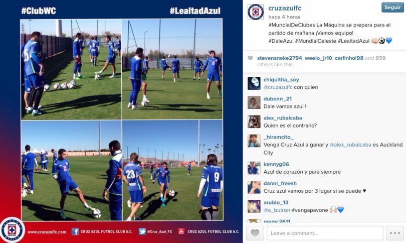 Cruz Azul se prepara para jugar por el tercer lugar en el Mundial de Clubes