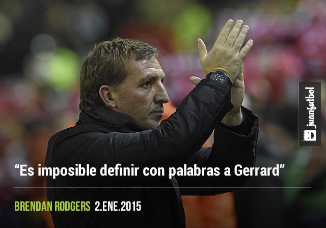 Brendan Rodgers reconoce el talento de Steven Gerrard, imposible definirlo futbolísticamente