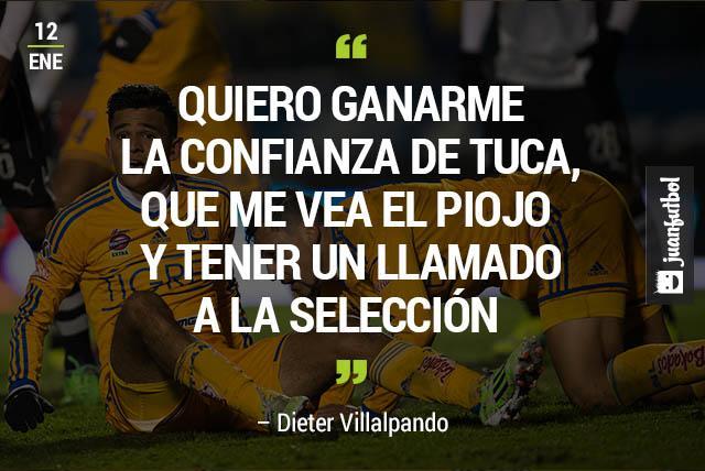 Dieter Villalpando busca en Tigres tener la atención de Miguel Herrera.