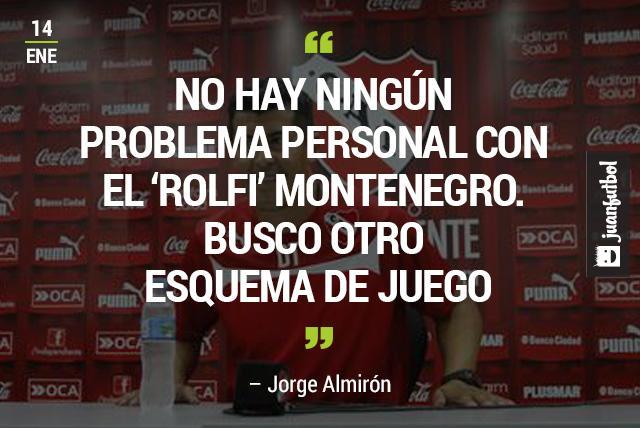 Rolfi Montenegro deja de ser jugador de Independiente por no caber en el esquema de Jorge Almirón