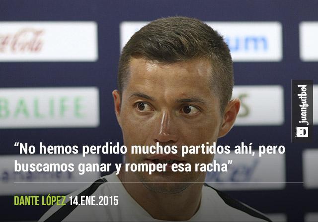 Dante López en conferencia de prensa
