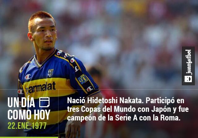 Cumpleaños de Hidetoshi Nakata.