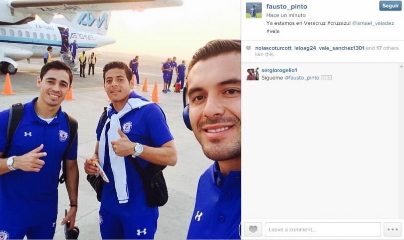 Fausto Pinto y Alejandro Vela junto al equipo del Cruz Azul llegaron a Veracruz