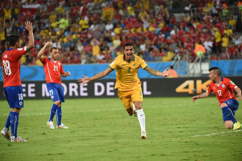 Tim Cahill marca un golazo frente a Chile en el Mundial de Brasil 2014