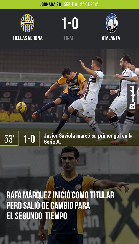 Hellas y Rafa Márquez se llevan una victoria.