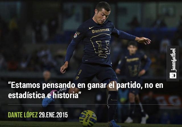 Dante López afirma que Pumas no se preocupa por el historial que tiene frente a Atlas