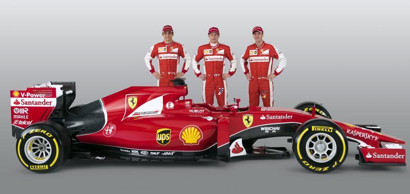 Esteban Gutiérrez aparece en la presentación del automóvil Ferrari para la temporada 2015 de la Fórmula 1